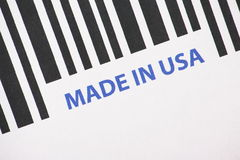Made in USA Barcode Stock Photo