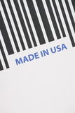 Made in USA Barcode Royalty Free Stock Photography