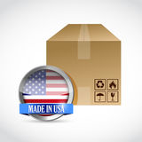 Made in usa box illustration design Royalty Free Stock Photo