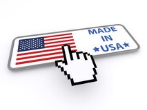 Made in USA button Stock Photography