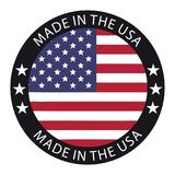 Made In The USA Button - Vector Illustration - Isolated On White vector illustration