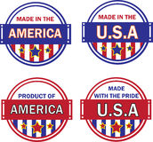 Made in usa collection Stock Images