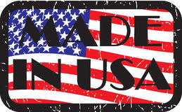 Made in usa color Royalty Free Stock Photography