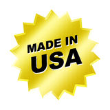 Made in usa. Decal made in usa, web design or sticker Stock Photography