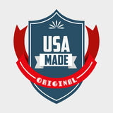 Made in usa design Royalty Free Stock Photography