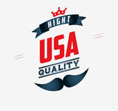 Made in usa design Stock Image