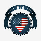 Made in usa design Royalty Free Stock Image