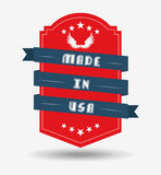 Made in usa design Stock Photo