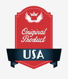 Made in usa design Stock Photography
