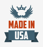 Made in usa design Royalty Free Stock Images