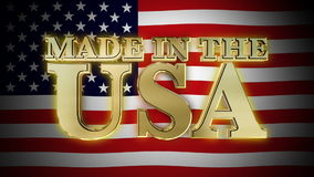 Made in The USA with Flag HD stock footage