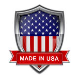 Made in USA. Glossy label. Made in USA glossy label on white background. Vector illustration Stock Photography