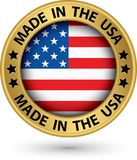 Made in the USA gold label, vector illustration stock illustration