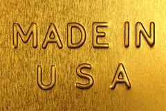 Made in USA on a Golden Background Stock Images