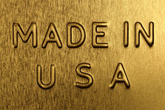 Made in USA on a Golden Background Royalty Free Stock Image