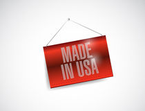 Made in usa hanging banner illustration design Royalty Free Stock Photos