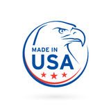 Made in USA icon with American Eagle emblem. Vector illustration Royalty Free Stock Photos