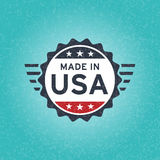 Made in USA icon concept old retro grunge badge design Royalty Free Stock Photos