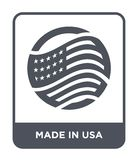 made in usa icon in trendy design style. made in usa icon isolated on white background. made in usa vector icon simple and modern royalty free illustration