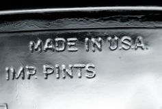 Made in USA - IMP. Pints Stock Photography