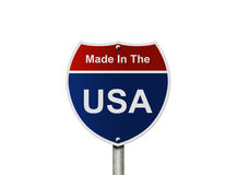 Made In The USA interstate sign Stock Images