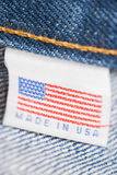 Made in the USA label Royalty Free Stock Photos