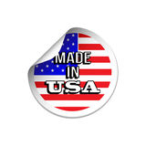Made In USA Label Royalty Free Stock Photography