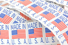 Made in USA labels Stock Photography