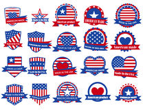 Made in the USA labels Royalty Free Stock Photos