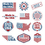 Made in USA labels Royalty Free Stock Photography