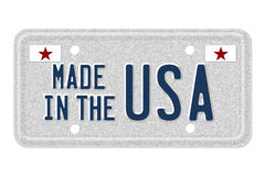 Made in the USA License Plate Stock Image