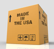Made In Usa Means The United States And Americas 3d Rendering Stock Images