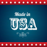 Made in usa. Over blue background vector illustration Stock Photography