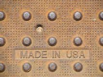 Made in USA Plate Stock Image