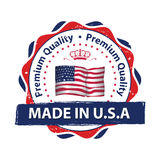 Made in USA, Premium Quality sticker / label for print Royalty Free Stock Image