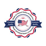 Made in USA, Premium Quality sticker / label for print Stock Photos