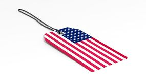 Made in USA price tag with national flag Royalty Free Stock Photos