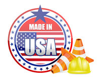 Made in usa. protection warranty Stock Images