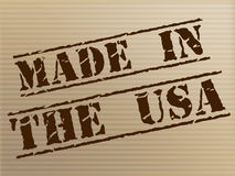 Made In Usa Represents United States And Americas Royalty Free Stock Images