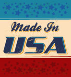 Made in USA retro sign. Vector available Stock Images