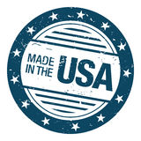 Made in usa rubber stamp. Rubber stamp with made in the usa written in the middle Stock Image