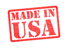 MADE IN USA Rubber Stamp. Over a white background Royalty Free Stock Images
