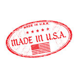Made in USA rubber stamp Stock Photo