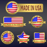 Made in USA. Made in  USA. Set of vector icons and labels Stock Photos