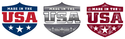 Made in the USA Shields royalty free illustration