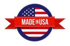 Made in USA sign seal. America illustration royalty free stock image