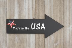 Made in the USA sign Stock Image