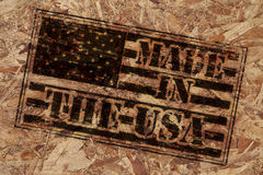 Made in the USA stamp Royalty Free Stock Photo