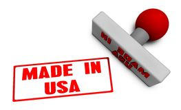 Made in USA Stamp Royalty Free Stock Images