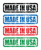 Made in usa stamp Stock Photos